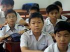 De kids in het klaslokaal