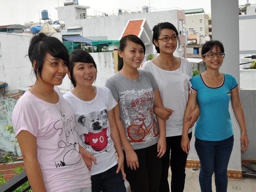 meisjes van SPI study house